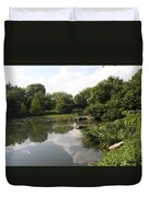 Pond Reflection - Central Park Duvet Cover