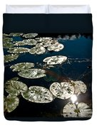Pond Sunset Duvet Cover