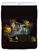 Pond Waterfall And Chuck The Bear Duvet Cover