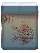 Pond Weed Reflections Duvet Cover
