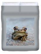 Pondering Frog Duvet Cover