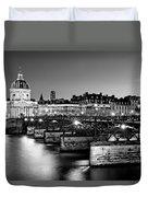 Pont Des Arts And Institut De France / Paris Duvet Cover