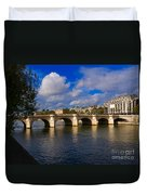 Pont Neuf Over The Seine River Paris Duvet Cover