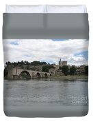 Pont Saint Benezet And Pope Palace Duvet Cover