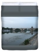Pont Saint Benezet In The Eveninglight Duvet Cover