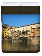 Ponte Vecchio Bridge In Florence Duvet Cover