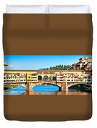 Ponte Vecchio In Florence Duvet Cover