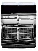 Pontiac Grand Ville Grille -0332bw Duvet Cover
