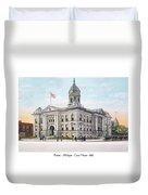 Pontiac Michigan - Ponitiac Court House - 1910 Duvet Cover