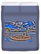 Pontsticill Reservoir Merthyr Tydfil Duvet Cover by Steve Purnell