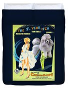 Poodle Art - The Seven Year Itch Movie Poster Duvet Cover
