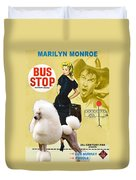 Poodle Standard Art - Bus Stop Movie Poster Duvet Cover
