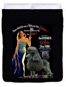 Poodle Standard Art - Gilda Movie Poster Duvet Cover