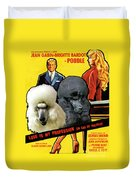 Poodle Standard Art - Love Is My Profession Movie Poster Duvet Cover