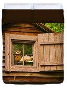 Pooh In The Attic Duvet Cover