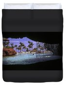 Pool And Palms Duvet Cover