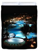 Pool At Night Duvet Cover