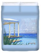 Pool Cabana Morning Duvet Cover