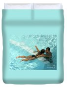 Pool Couple 9717b Duvet Cover