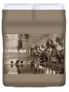 Pool In The Del Monte Bath House Monterey Circa 1885 Duvet Cover