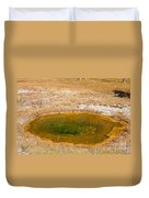 Pool In Upper Geyser Basin In Yellowstone National Park Duvet Cover