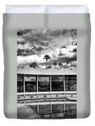 Pool Storm Palm Springs Duvet Cover