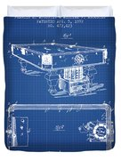 Pool Table Patent From 1892 - Blueprint Duvet Cover