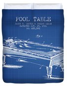 Pool Table Patent From 1901 - Blueprint Duvet Cover