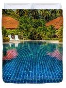 Pool Time Duvet Cover