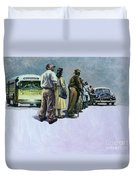 Pools Of Defiance Duvet Cover by Colin Bootman