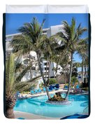 Miami Beach Poolside 03 Duvet Cover
