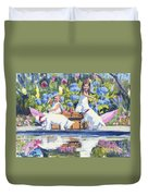 Poolside Tea I Duvet Cover