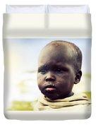 Poor Young Child Portrait. Tanzania Duvet Cover