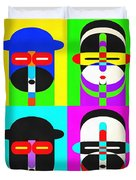 Pop Art People 4 2 Duvet Cover
