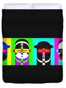 Pop Art People 4 Row Duvet Cover