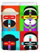 Pop Art People Quattro Duvet Cover
