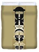 Pop Art People Totem 6 Duvet Cover