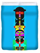 Pop Art People Totem 7 Duvet Cover