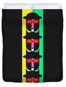 Pop Art People Totem 8 Duvet Cover