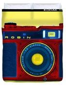 Pop Art Robin Duvet Cover