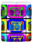 Pop Art Robin Proofs Duvet Cover