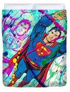 Pop Art Superman Duvet Cover