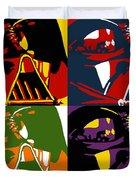 Pop Art Vader Duvet Cover