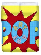 Pop Art Words Splat 02 Duvet Cover