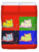 Pop Kitty Duvet Cover