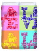Pop Love Collage Duvet Cover