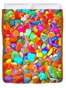 Pop Rocks Abstract Duvet Cover