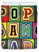 Pop Words Duvet Cover
