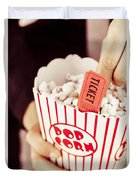Popcorn Box Office Duvet Cover