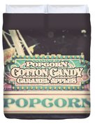 Popcorn Stand Carnival Photograph From The Summer Fair Duvet Cover
